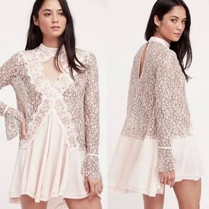 Free People Tell Tale Cut Out Lace Tunic